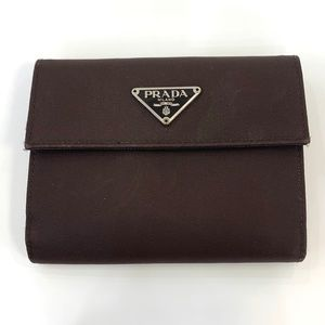PRADA brown Nylon wallet